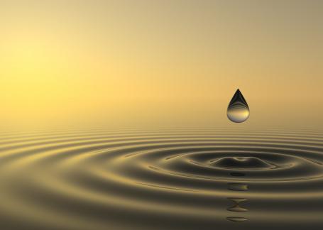 water, raindrop small
