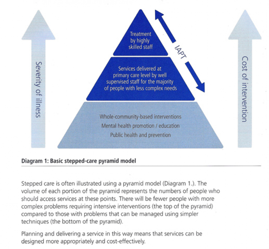 Stepped Care Model Triangle