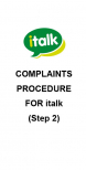 italk complaints procedure