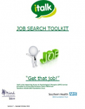 italk Job Search Toolkit October 2018